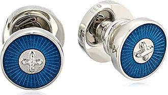 Ted Baker Mens PULA Cufflinks, teal/blue, O/S