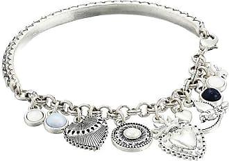 048d7d6b31f Lucky Brand Hearts and Birds Charm Cuff Bracelet (Silver) Bracelet