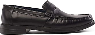 Padders Baron Black Leather Slip On Shoe 7.5
