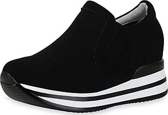 Scarpe Vita Women Sneaker Wedges Cut-Outs Platform Front 190357 Black UK 5 EU 38