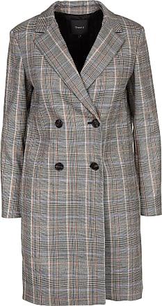 Theory Manteau col tailleur croisé motif prince-de-galles en laine vierge a048784ba7e