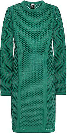 M Missoni M Missoni Woman Open-knit Mini Dress Jade Size 38