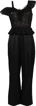 Rebecca Taylor Rebecca Taylor Woman Malorie Cropped Broderie Anglaise Silk-shantung Jumpsuit Black Size 10