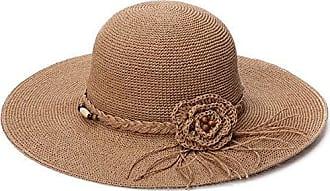 Chillouts Damen Sonnenhut Lafayette Stroh Strand Glockenhut breite Krempe beige