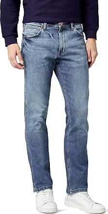 Wrangler Mens Greensboro Jeans, Blue (Used Stone 093), 33W / 32L
