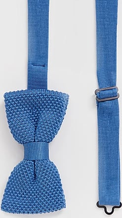 Twisted Tailor knitted bow tie in blue