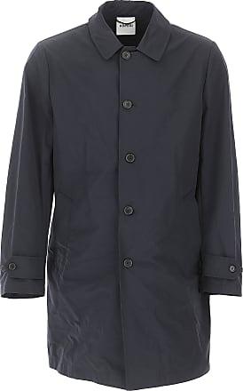 Aspesi Mens Coat On Sale, Dark Blue Navy, Cotton, 2017, L M S