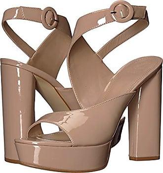 Guess Guess Womens MAKENNA2 Heeled Sandal, Light Natural, 9.5 M US
