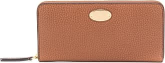 Mulberry logo plaque leather wallet - Marrom