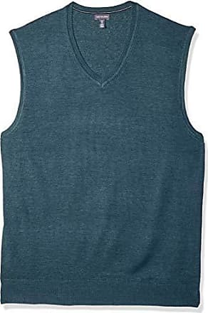 Van Heusen Mens Big and Tall Solid Jersey Sweater Vest, wing teal heather, 3X-Large Tall