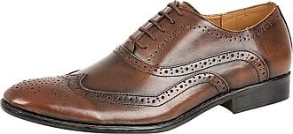 Lora Dora Mens Designer Inspired Brogues Formal Shoes Burnished Brown 12 UK