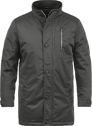 Solid Wallo Mens Winter Jacket Outdoor Jacket with Funnel Neck, Size:L, Colour:Dark Grey (2890)