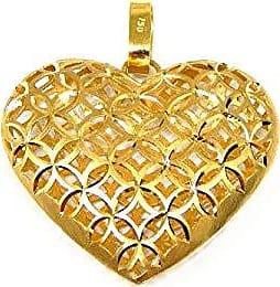 Prado Joias Pingente Em Ouro 18k Coração Rendado Grande