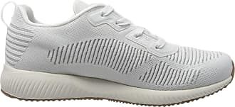 Skechers Womens Bobs Squad Glam Low-Top Sneakers, White (White 31347-Wht), 7 UK