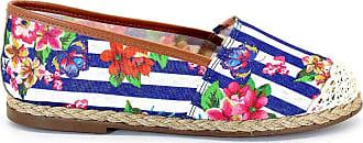 Royalz Alpargata Royalz Tecido Crochê Floral Spring Azul