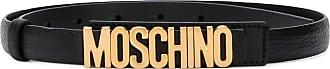 Moschino logo plaque belt - Black