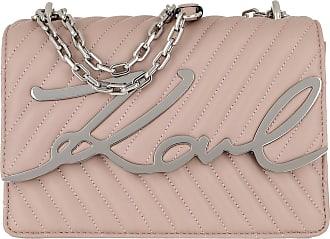 Karl Lagerfeld Signature Stitch Shoulderbag Powder Pink Umhängetasche rosa