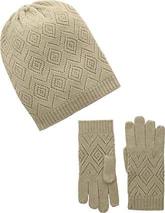 7b38374033d La Fiorentina Womens Cashmere Knit Pointelle Hat and Glove 2 Piece Set