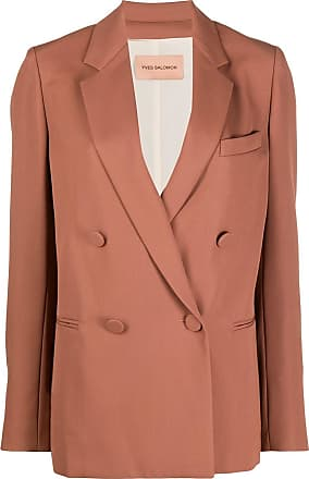 Yves Salomon double breasted blazer - NEUTRALS