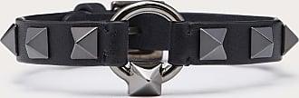 Valentino Garavani Valentino Garavani Uomo Leather Bracelet Man Black 100% Pelle Di Vitello - Bos Taurus OneSize
