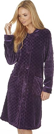 Forever Dreaming Ladies Womens Long Embossed Bed Jacket Flannel Fleece Nightwear Forever Dreaming