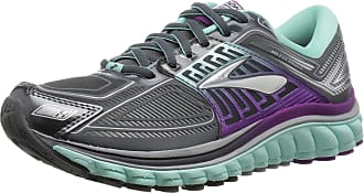 Brooks Womens Glycerin 13 Anthracite/Ice Green/Hollyhock Athletic Shoe