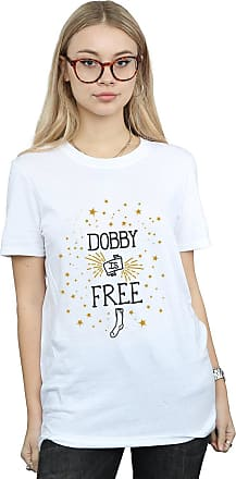 Harry Potter Womens Dobby Is Free Boyfriend Fit T-Shirt White XXX-Large
