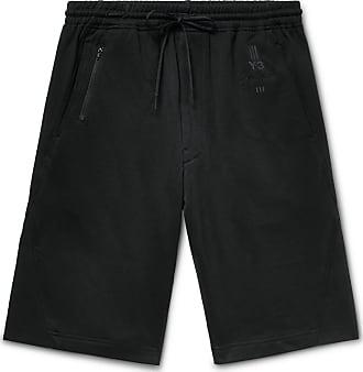 Yohji Yamamoto Loopback Cotton-jersey Shorts - Black