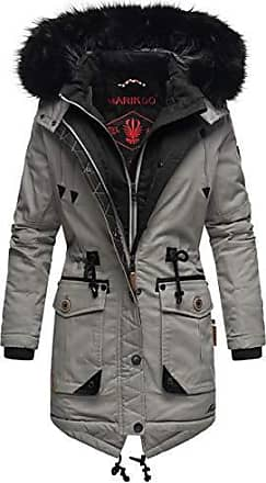 Navahoo Damen Winter Stepp Jacke Kurz Mantel Teddy-Fleece Revers Kragen Smoothy