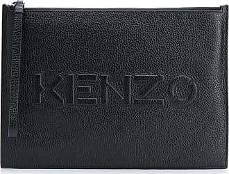 Kenzo Clutch con logo goffrato - Di colore nero