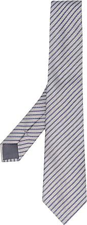 Giorgio Armani Gravata com listras e padronagem trançada - Azul