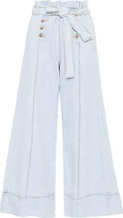 Dress To Calça Pantalona Denim Botões Dress To - Azul