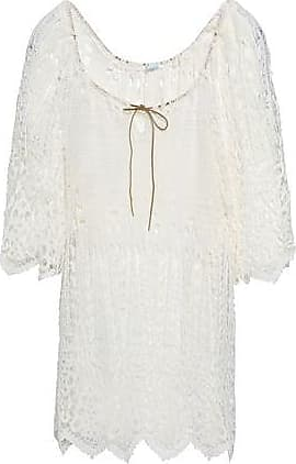 Eberjey Eberjey Woman Crocheted Cotton Coverup Off-white Size S/M