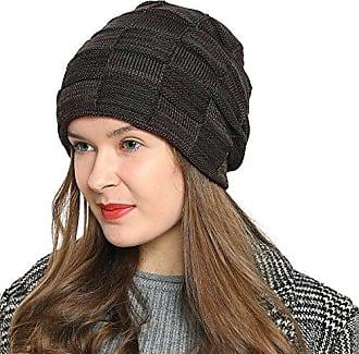 fad9b08bca13e6 DonDon Damen warme Wintermütze Beanie Schlauch Design Strickmütze modern  mit extra weichem Innenfutter braun