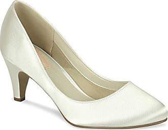 Paradox London Paradox London Pink Classic Mid Heel Round Toe Court Wedding  Shoes 42 EU Ivory e716f097f8