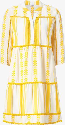 Rich & Royal Streifen-Kleid mit Stickerei