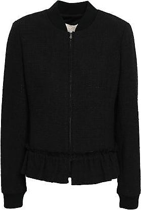 Rebecca Taylor Rebecca Taylor Woman Tweed Bomber Jacket Black Size 10