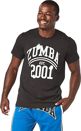 Zumba Unisex Workout Tee with Fashion Print, Bold Black 5, M/L
