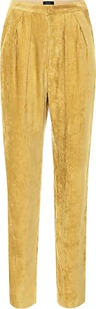 Isabel Marant Pantaloni Fany a vita alta in velluto