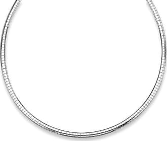 PalmBeach Jewelry Omega-Link Necklace in Sterling Silver