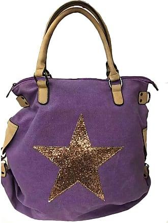 Craze London Womens Overnight Shoulder Bag,Oil Cloth Foldaway Printed Shoulder Handbag (Purple)