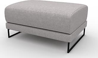 MYCS Polsterhocker Sandgrau - Eleganter Polsterhocker: Hochwertige Qualität, einzigartiges Design - 80 x 42 x 60 cm, Individuell konfigurierbar