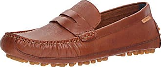 Cole Haan Mens Coburn Penny Driver II Loafer, British tan Textured Leather, 9.5 Medium US
