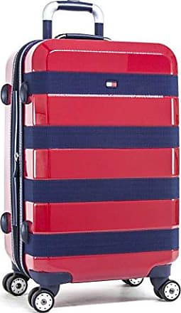 178ce58e31a Tommy Hilfiger Rugby Stripe 25 Inch Hardside Carry-On Luggage, Red