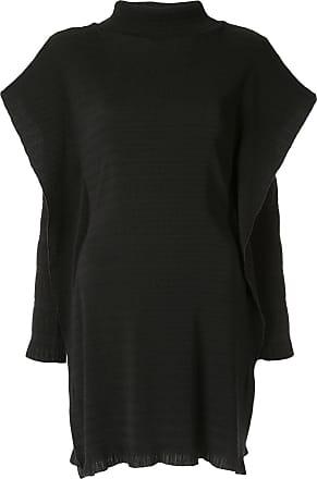 CHRISTOPHER ESBER layered sleeve ribbed tunic - Black