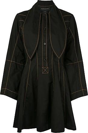 Karen Walker Terrestrial stitch-embellished dress - Black