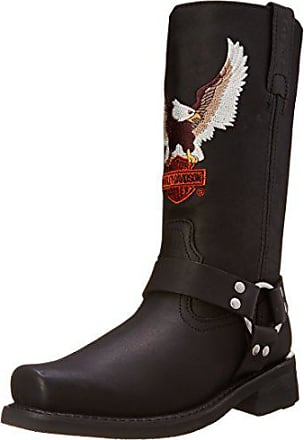 Harley-Davidson Mens Darren Motorcycle Harness Boot, Black, 7.5 W US