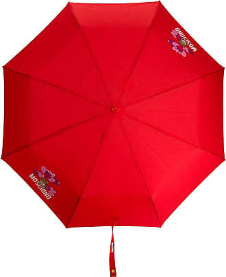 Moschino Teddy-motif logo-print umbrella - Red