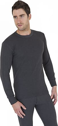 Universal Textiles Mens Thermal Underwear Long Sleeve T Shirt Top (British Made) (Chest: 40-42inch (Large)) (Charcoal)