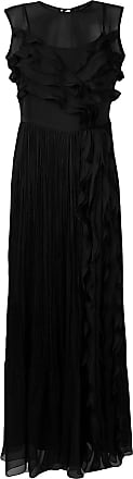 Irina Schrotter Vestido plissado com babados - Preto